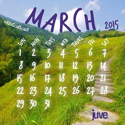 Creative Influence Calendar - March 2015