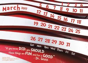 2017 March Calendar